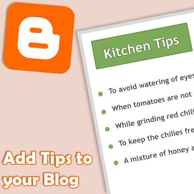 Cooking Tips Widget for your Blogs and Websites
